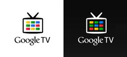 Google TV's eye-catching logo.