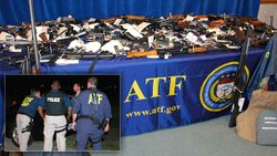 Illegal weapons seized by ATF officials.