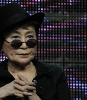 "Yoko Ono during PBS' ""American Masters: LENNONYC"" (W.T.) session at the TCA Summer Press Tour in Los Angeles on August 5, 2010. Yoko Ono and series creator and executive producer Susan Lacy discuss John and Yoko's time together in New York City."