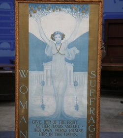 """The """"holy grail"""" of American women's suffrage movement posters — a timely reminder that 2010 is the 90th anniversary of the 19th Amendment to the Constitution — valued at $10,000 to $15,000."""
