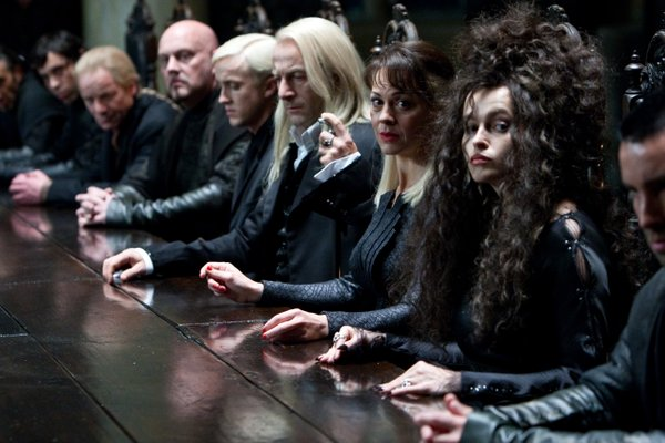 "Helena Bonham Carter (far right) is one of the many fine performers not given enough to do in ""Harry Potter and the Deathly Hallows, Part One."""