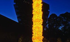 """Saffron Tower,"" Dale Chihuly"