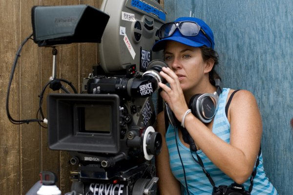 "Director Claudia Llosa on the set of her second feature, ""The Milk of Sorrow."""