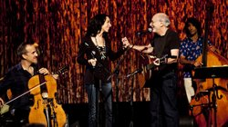 Peter Yarrow on stage with Bethany & Rufus for