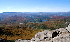 The view atop Cascade Mountain, one of the 46 Adirondack high peaks.