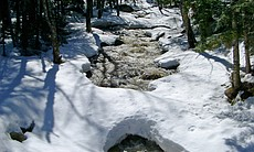 A long, cold Adirondack winter slowly gives way as the spring thaw begins.
