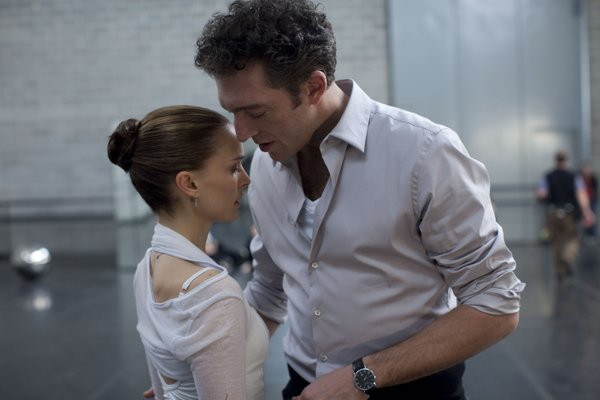"Natalie Portman and Vincent Cassel star in ""Black Swan."""