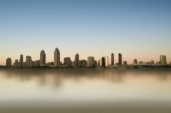 San Diego's skyline as seen from the bay.