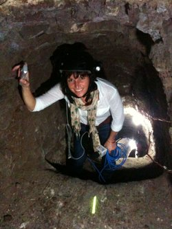 KPBS border reporter Amy Isackson tours a drug smuggling tunnel found on Than...