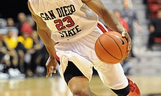 San Diego State University basketball player D.J. Gay.