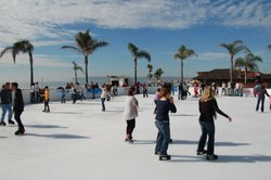 People skate at the Hotel del Coronado's ice rink on Saturday December 4, 2010