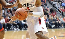 San Diego State University basketball player Malcolm Thomas.