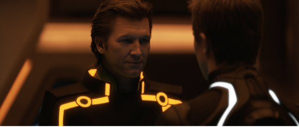 "Jeff Bridges with his CGI facelift in ""TRON: Legacy."""