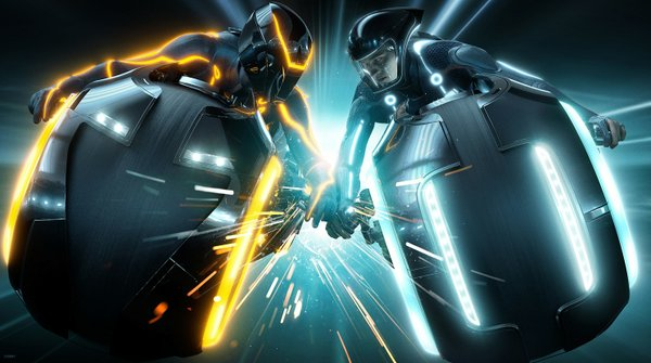 "Even the light cycles were a bit underwhelming in ""TRON: Legacy."""