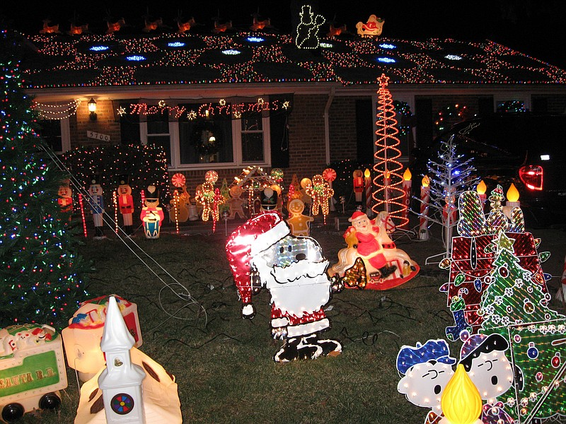 Christmas display, December 2008.  Sustainabilty experts recommended cutting ...