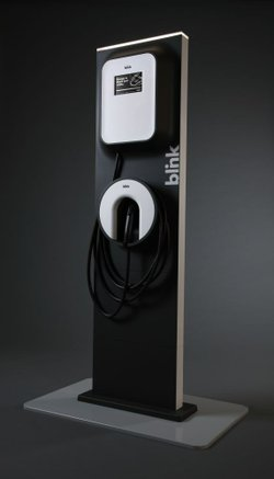 Ecotality wants to install 1,000 charging stations, like this Blink 240-volt ...