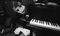 Circa 1980, Hollywood, Los Angeles– Tom Waits Relaxing by Piano –Im... (8809)