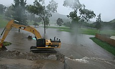 The flooded Mission Trails Golf Course.