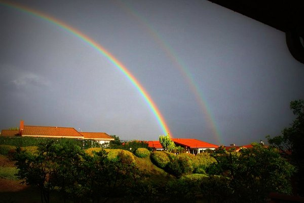 The Double Rainbow guy should move to San Diego. This is the second double rainbow I've seen here in 2010. Kelly Wright captured this image of latest double rainbow following the rain storms right before Christmas.