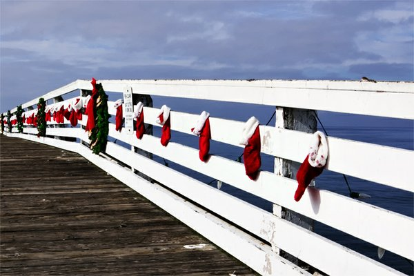 Flickr member San Diego Images took this shot early Christmas morning at San Diego's Chrystal Pier.