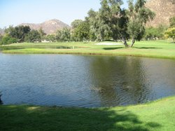 This pond on the Sycuan golf course was treated with Aquatain.