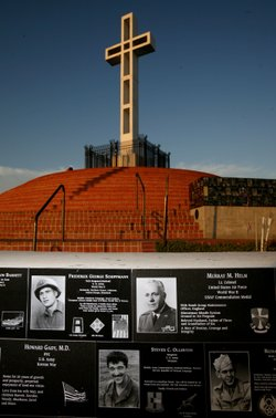 View of the Mount Soledad Veterans Memorial on July 3, 2006 in San Diego, Cal...
