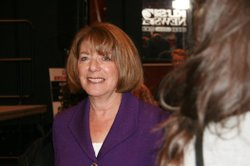 Congresswoman Susan Davis at Golden Hall on election night in San Diego, California, on November 2, 2010.
