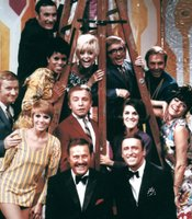 "The original cast members of George Schlatter's ""Laugh-In."""