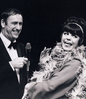 """Laugh-In's"" Joanne Worley with Dick Martin."