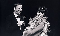 """""""Laugh-In's"""" Joanne Worley with Dick Martin. (8989)"""