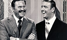 "Hosts of ""Laugh-In,"" Dan Rowan and Dick Martin."