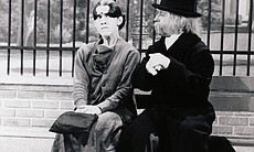 "Ruth Buzzi as Gladys with Arte Johnson in ""Laugh-In."""