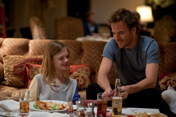 "Elle Fanning and Stephen Dorff star as a daughter and her movie star dad in ""Somewhere."""