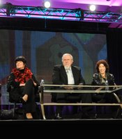 "PBS' ""The Best Of Laugh-In"" TCA Winter 2011 session panel including: Ruth Buzzi, JoAnne Worley, George Schlatter, Lily Tomlin and Gary Owens"