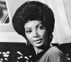 "As ""Star Trek's"" Lieutenant Uhura, Nichelle Nichols made history as the first African-American female in a lead on TV."