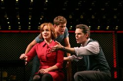 "Former San Diego resident Alice Ripley stars with Aaron Tveit (left) and J. Robert Spencer in Broadway's ""Next to Normal."""
