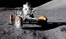 Astronaut Eugene A. Cernan, Apollo 17 mission commander, makes a short checko...