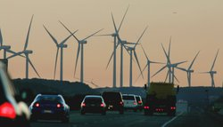 A view of wind turbines at the Kumeyaay Wind Project on the Campo Reservation in San Diego's East County.