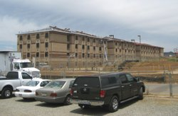 A new barracks building going up on Camp Pendleton. 49 new barracks buildings...