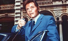 "Jack Lord on the set of ""Hawaii Five-0"""
