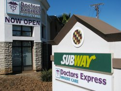 Doctors Express Urgent Care clinic is located in a Santee strip mall, at one of the county's busiest intersections.