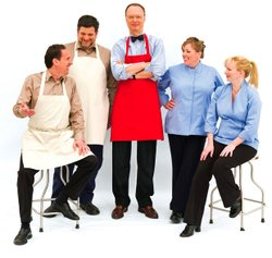 The cast of AMERICA's TEST KITCHEN: Jack Bishop, Adam Ried, Christopher Kimball, Julia Collin Davison and Bridget Lancaster.