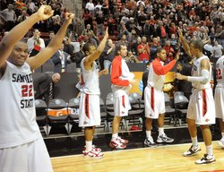 The Aztecs have are ranked nationally as the no. 7 college basketball team.