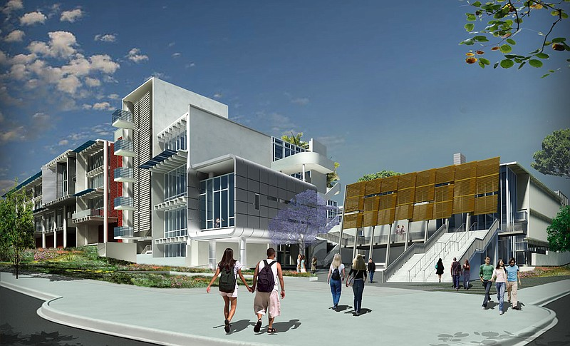 Rendering of state-of-the-art facilities that are on track for LEED Gold gree...