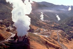 The largest concentration of geothermal plants is located north of San Franci...