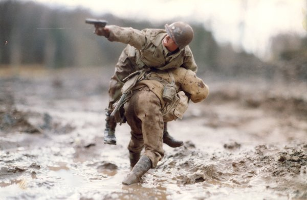 One of the photographs of Marwencol by Mark Hogancamp.