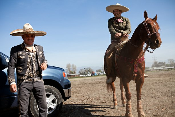 Filemon Jara Sr. & Filemon Jara Jr. represent two generations of charros from Mexico and the U.S., respectively.