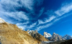 Karakoram mountain range featured in