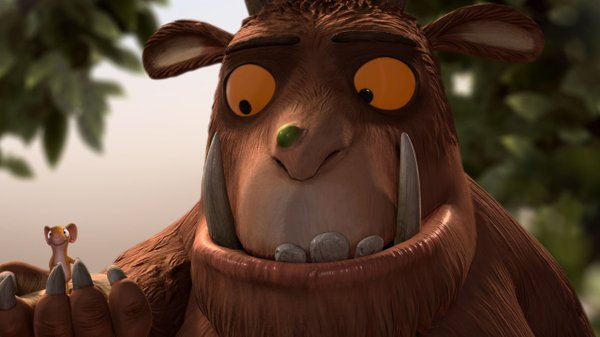 "Robbie Coltrane gives voice to an imaginary creature that proves to be quite real in ""The Gruffalo."""