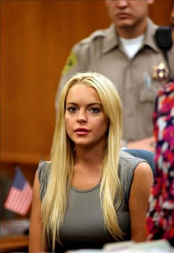 Lindsay Lohan urged the establishment in democracy in Egypt.